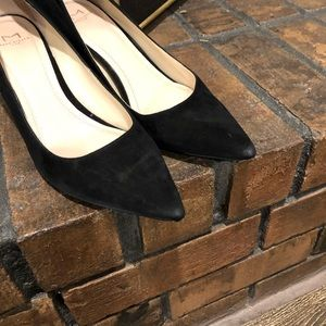 Marc Fisher Shoes - Marc Fisher Black Suede Pointy Toe Zala Pump Heels
